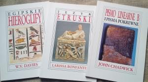 Pismo hierogliczne, etruskie, linearne B