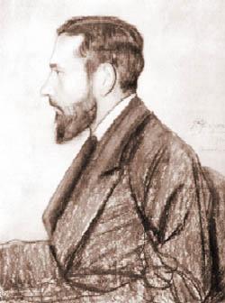 Leopold Staff, rys. S. Pichora, 1915 rok.