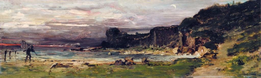 """""""Wybrzeże Normandii"""", mal. Mihály Munkácsy, 1880 rok."""