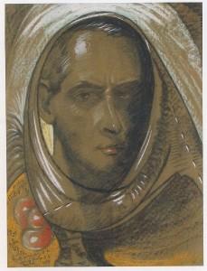 Witkacy, Autoportret, 1931 rok (źródło).