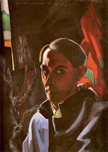 Witkacy, Autoportret, 1924 rok (źródło)