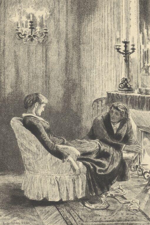 Helena i dr Deberle, rys. Dantan, 1905 rok